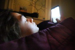 smartphone verstoort nachtrust